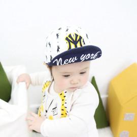 [BABYBLEE] A17310 _ Baby NY Baseball Cap Infant Sun Hat, Infant Toddler Kids Baseball Cap  _ Made in KOREA