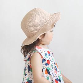 [BABYBLEE] A17520 _ Kids Beach Raffia Bucket Hat Toddler Summer Hats Kids Suncap Beach Hats, booney