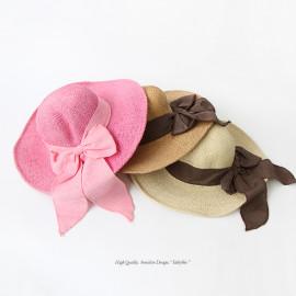 [BABYBLEE] A17527 _ Paper Straw Hats Girls Kids Sun Hats Summer Beach Hats Straw Woven Pocket Suit Outdoor Activities