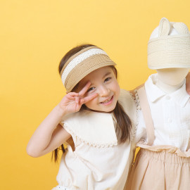 [BABYBLEE] A17715 _ Baby Ribbon Lace Sun Cap Toddler Summer Hats Kids Suncap Beach Hats