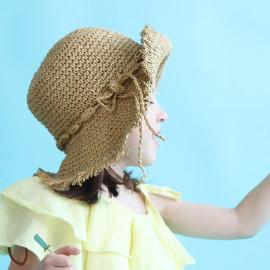 [BABYBLEE] A1851 _ Kids Paper Straw Bucket Hat Toddler Summer Hats Kids Suncap Beach Hats, booney