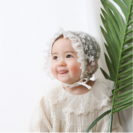 [BABYBLEE] A20102 _ Lace Preah B, Lace Bonnet, Baby Hat, girls hat,  Infant Hat _ Made in KOREA