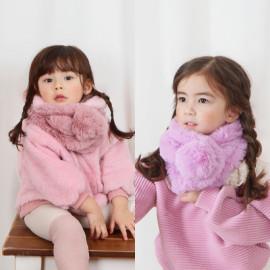 [BABYBLEE] C20804 _Fur Infant Big Bell Muffler, Kid winter Muffler, infant shawl _ Made in KOREA