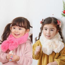[BABYBLEE] C20805 _Fur Infant Muffler, Kids winter Muffler, infant shawl _ Made in KOREA