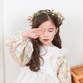 [BABYBLEE] B18601 _ Ronnie Flower Crown Baby Hair bands, Hair Accessories for Girl Teens Kids Babies Toddlers Women _ Made In KOREA