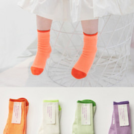 [BABYBLEE] F20204 Neon Infant Socks 4 Set, Children Socks, Girls Socks, Kids Socks _ Made in KOREA