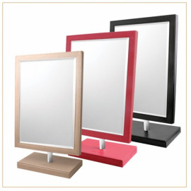 [Star Corporation] HM-471 Leather Square Tabletop Mirror _ Mirror, Tabletop Mirror, Fashion Mirror