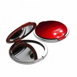 [Star Corporation] ST-075S Red _ Mirror, Hand Mirror, Magnifiing Mirror, Double Used Mirror, Fashion Mirror, Portable Mirror