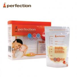 [PERFECTION] 2 Way Breast Milk Storage Bags, 180ml, 30pcs (Temperature indicator)_ Breast-Feeding, Milk Powder, Feeding Bottle, For Baby _ Made in KOREA