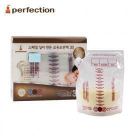 [PERFECTION] Special 2 Way Nano Silver Breast Milk Storage Bags, 250ml, 30 pcs (Temperature Indicator) _ Breast-Feeding, Feeding Bottle _ Made in KOREA
