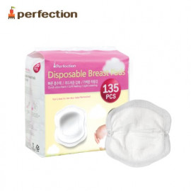 [PERFECTION] Breast Pad, B type, 135 Sheets _ Nursing Pads, Disposable Breast Pads _ Made in KOREA