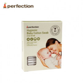[PERFECTION] Baby Hygienic Cotton Swab, 80P _ Sanitary, Individual Package, Baby Swab _ Made in KOREA