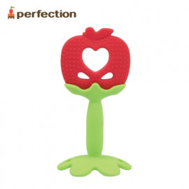 [PERFECTION] Apple, Baby Teething Toy _ Infant Teething tots, FDA-approved, Easy to Hold, Newborn, Soft _ Made in KOREA