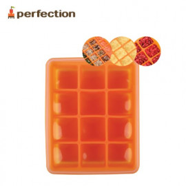 [PERFECTION] Silicon Multi Cube Container, 12, Orange _ For Baby Foods, Foods Cube, Ice Cube _ Made in KOREA