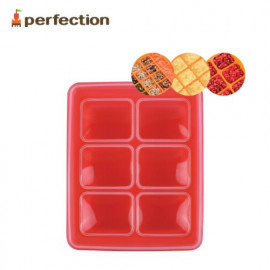[PERFECTION] Silicon Multi Cube Container, 6, Red _ For Baby Foods, Foods Cube, Ice Cube _ Made in KOREA