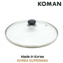 [KOMAN] Universal Tempered Glass, frying pan Lid, 28 cm _ Cookware, kitchenware  Chef's Pan _ Made in KOREA
