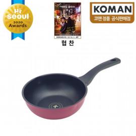 [KOMAN] Sense Win, Nonstick Titanium Coating Frying Wok Pan, 20cm _ Omelette Pan, Cookware Chef's Pan_ (SGS Approved. PFOA Free) _ Made in KOREA
