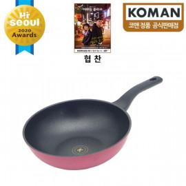 [KOMAN] Sense Win, Nonstick Titanium Coating Frying Wok Pan, 28cm _ Omelette Pan, Cookware Chef's Pan_ (SGS Approved. PFOA Free) _ Made in KOREA