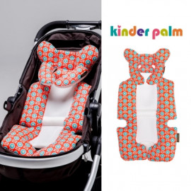 [Kinder Palm] 39% OFF _ L-line Baby Stroller Liner Seat Pad, Cushion Pad, Naturally Breathable, Year Round Comfort, Universal Fit, 3D Air-mesh _ Made in KOREA
