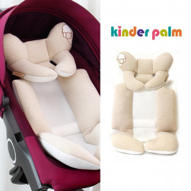[Kinder Palm] 45% OFF _ L-line Baby Stroller Liner, Organic Cotton Seat Pad, Cushion Pad, 4 seasons, Universal Fit, 3D Air-mesh _ Made in KOREA