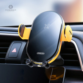 [MOMOTO] P1_Motion detection, Wireless Smart Car Charger Mount, Auto slide Clip, 360-degree rotation, Options for Dashboard, Air Vent, Windshield, Auto reminder