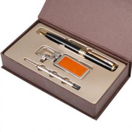 [WOOSUNG] Gift Set_ Metal Key Chain, Key holder + Premium Angel Metal Pen (Gold) + Refill