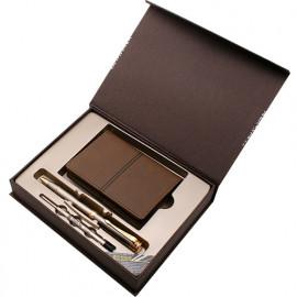 [WOOSUNG] Gift Set_PU Ople Business Card Holder Case + Hunminjeongeum Metal Pen