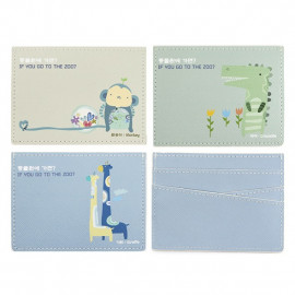 [Ilri_Ham] Cute Animal Card Case _Thin and light card case made of artificial leather , Made in Korea