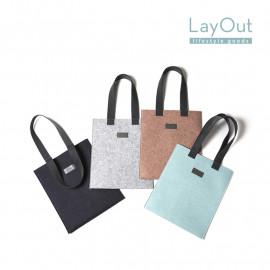 [LayOut] ECO Bag, Large Size FELT Shoulder Bag Handbag Casual Tote _ Made in Korea