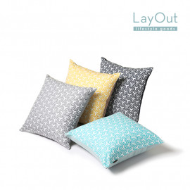[LayOut] Geometry Pattern Cushion Cover _ Made in Korea
