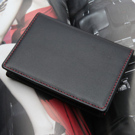 [WOOSUNG] Natural Cowhide Leather Business Card Holder Case, Hand Made, Black _ Made in KOREA