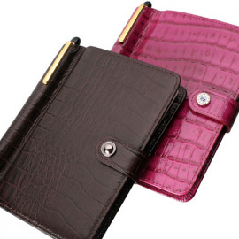 [WOOSUNG] Cowhide Crocodile Diary Cover, Passport Holder Cover Wallet, Travel wallet, Notepad cover_Made in KOREA