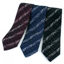 [MAESIO] KSK2615 Wool Silk Striped Necktie 8cm 3Color _ Men's Ties Formal Business, Ties for Men, Prom Wedding Party, All Made in Korea
