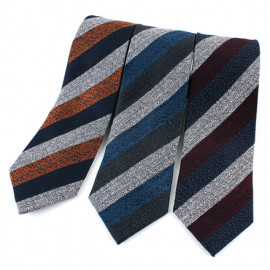 [MAESIO] KSK2616 Wool Silk Striped Necktie 8cm 3Color _ Men's Ties Formal Business, Ties for Men, Prom Wedding Party, All Made in Korea