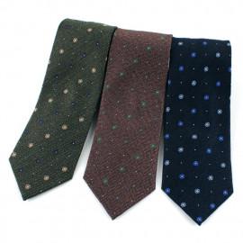 [MAESIO] KSK2619 Wool Silk Allover Necktie 8cm 3Color _ Men's Ties Formal Business, Ties for Men, Prom Wedding Party, All Made in Korea