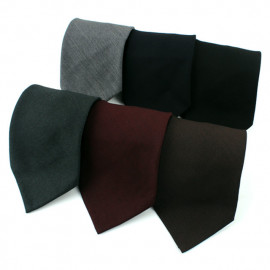 [MAESIO] MST1007 100%Wool Sfoderato Solid Necktie 9cm 6Colors _ Men's Ties Formal Business, Ties for Men, Prom Wedding Party, All Made in Korea