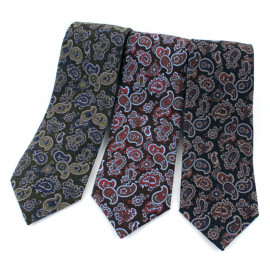 [MAESIO] MST1314 100% Wool Paisley Necktie 8cm 3Color _ Men's Ties Formal Business, Ties for Men, Prom Wedding Party, All Made in Korea