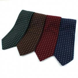 [MAESIO] KCT0001 Fashion Dot Necktie 8cm 4Color _ Men's Ties Formal Business, Ties for Men, Prom Wedding Party, All Made in Korea