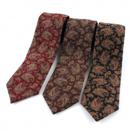 [MAESIO] KCT0003 Fashion Paisley Necktie 8cm 3Color _ Men's Ties Formal Business, Ties for Men, Prom Wedding Party, All Made in Korea