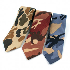 [MAESIO] KCT0004 Fashion Camouflage Necktie 8cm 3Color _ Men's Ties Formal Business, Ties for Men, Prom Wedding Party, All Made in Korea
