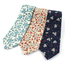 [MAESIO] KCT0017 Fashion Flower Necktie 8cm 3Color _ Men's Ties Formal Business, Ties for Men, Prom Wedding Party, All Made in Korea
