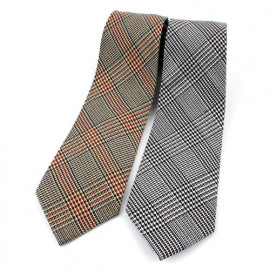 [MAESIO] KCT0022 Fashion  Check Necktie 8cm 2Color _ Men's Ties, Formal Business, Ties for Men, Prom Wedding Party, All Made in Korea