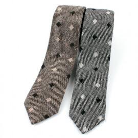 [MAESIO] KCT0159 Fashion Dot Semi Slim NeckTie 7cm 2Color _ Men's Tie, Business Office Look, Wedding Party,Made in Korea,