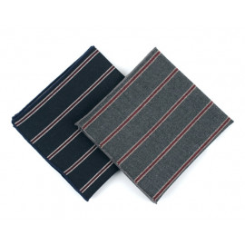 [MAESIO] KHC8030 Handkerchief Stripe_ Men's Handkerchief Mens Pocket Squares, Made in Korea