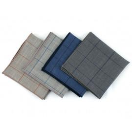 [MAESIO] KHC8031 Handkerchief Check_ Men's Handkerchief Mens Pocket Squares, Made in Korea