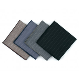[MAESIO] KHC8034 Handkerchief Stripe_ Men's Handkerchief Mens Pocket Squares, Made in Korea