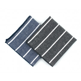 [MAESIO] KHC8035 Handkerchief Stripe_ Men's Handkerchief Mens Pocket Squares, Made in Korea