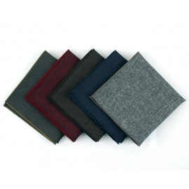 [MAESIO] KHC8037 Handkerchief Melange Solid_ Men's Handkerchief Mens Pocket Squares, Made in Korea