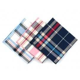 [MAESIO] KHC8041 Handkerchief Check_ Men's Handkerchief Mens Pocket Squares, Made in Korea