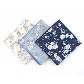 [MAESIO] KHC8043 Handkerchief Floral design_ Men's Handkerchief Mens Pocket Squares, Made in Korea